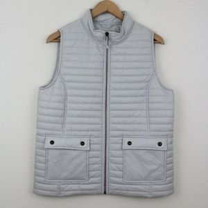 Vineyard Vines Packable Puffer Vest in Minnow Gray
